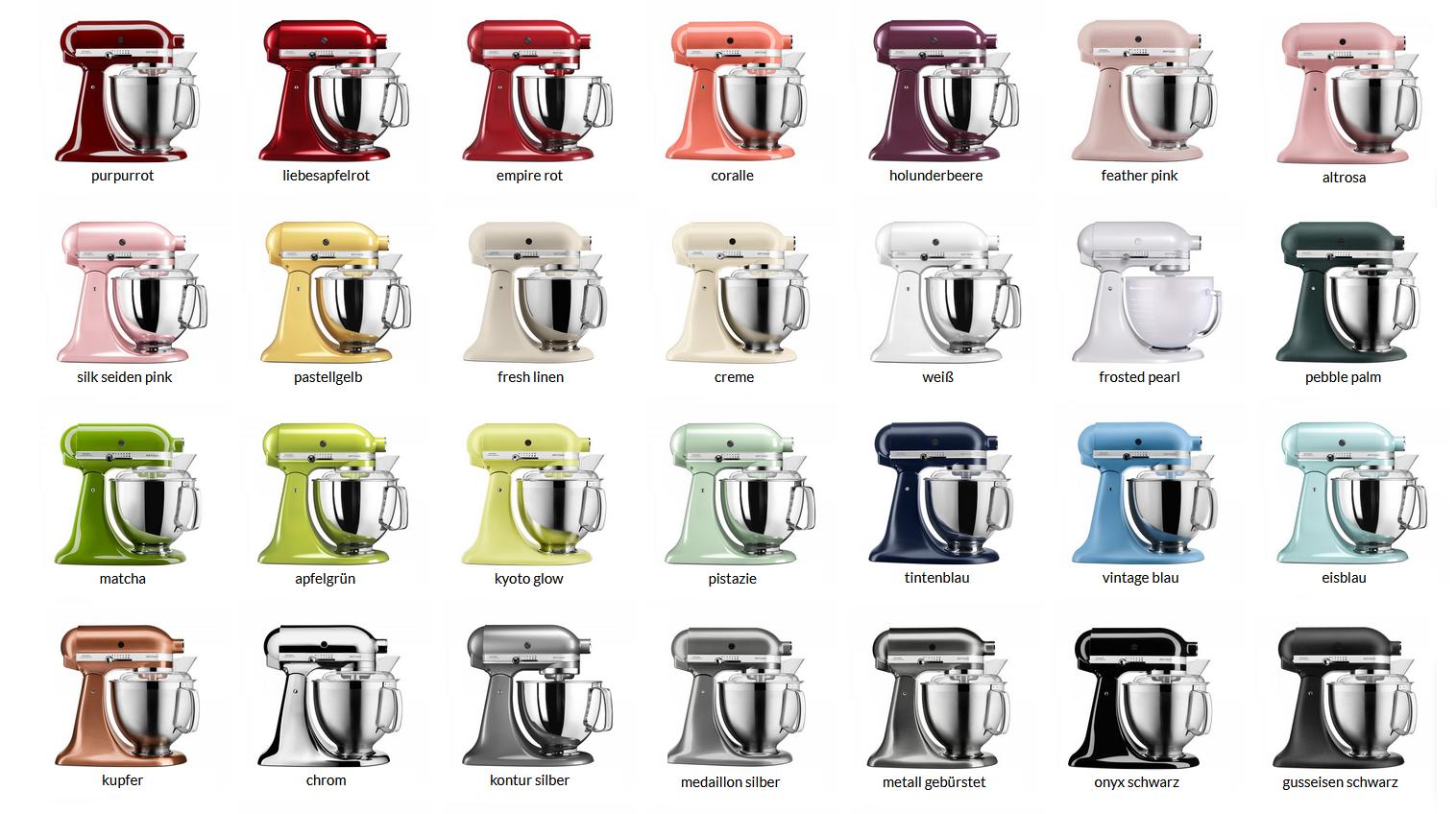 Kitchen Aid Farben : kitchenaid farben f r k chenmaschine co ~ Watch28wear.com Haus und Dekorationen